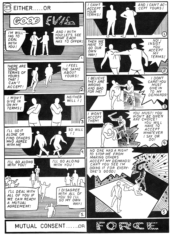 """""""Mutual Consent/Force"""" by Steve Ditko"""